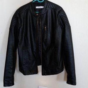 Black faux leather jacket Justfab